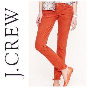 J Crew Matchstick Orange Corduroy 5 Pocket Jean 28